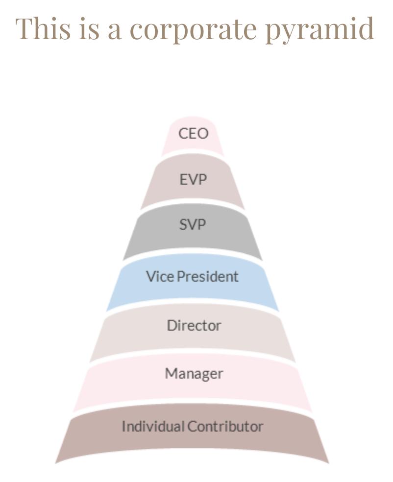 Joy Chen corporate pyramid